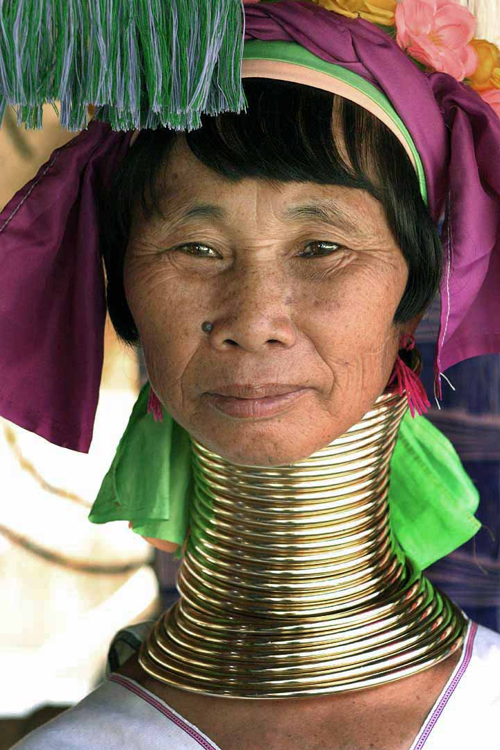 woman with neck rings