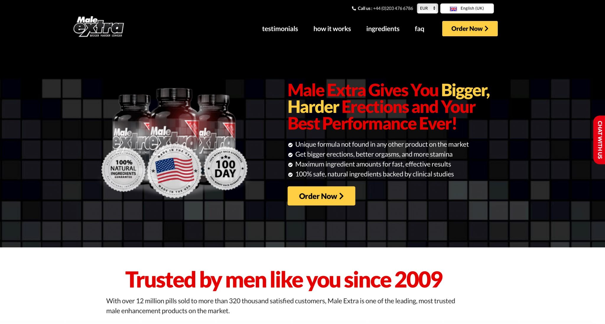 male extra uk website